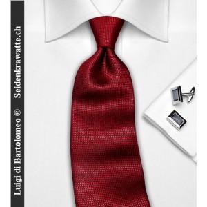 Luigi di Bartolomeo® Krawatten / Luxus-Seidenkrawatte, 100% Handgenäht, inkl. Seidensäcklein