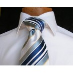 Luigi di Bartolomeo® Krawatte / Luxus-Seidenkrawatte, 100% Handgenäht, inkl. Seidensäcklein